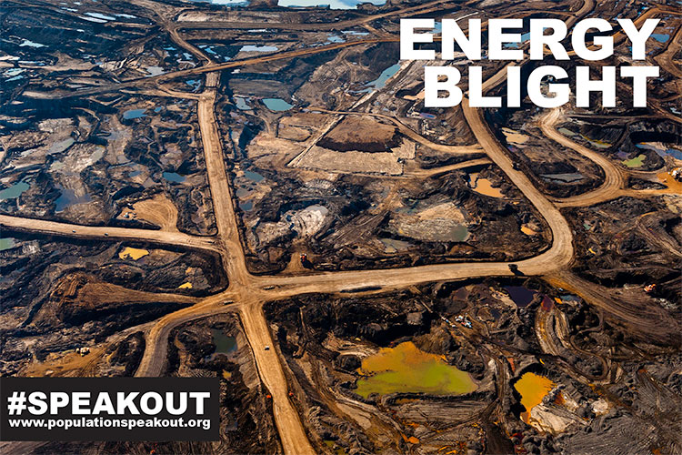 Aerial View of Tar Sands Region